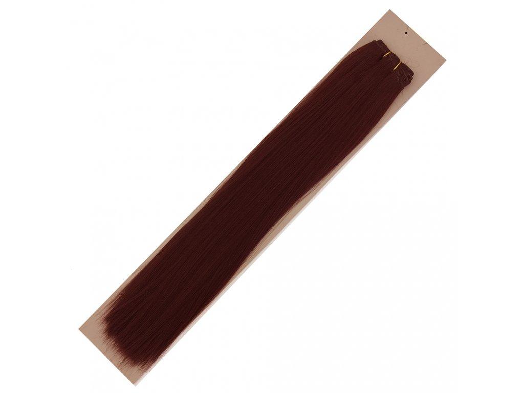 Umělé vlasy 50cm Tmavě kaštanové 33