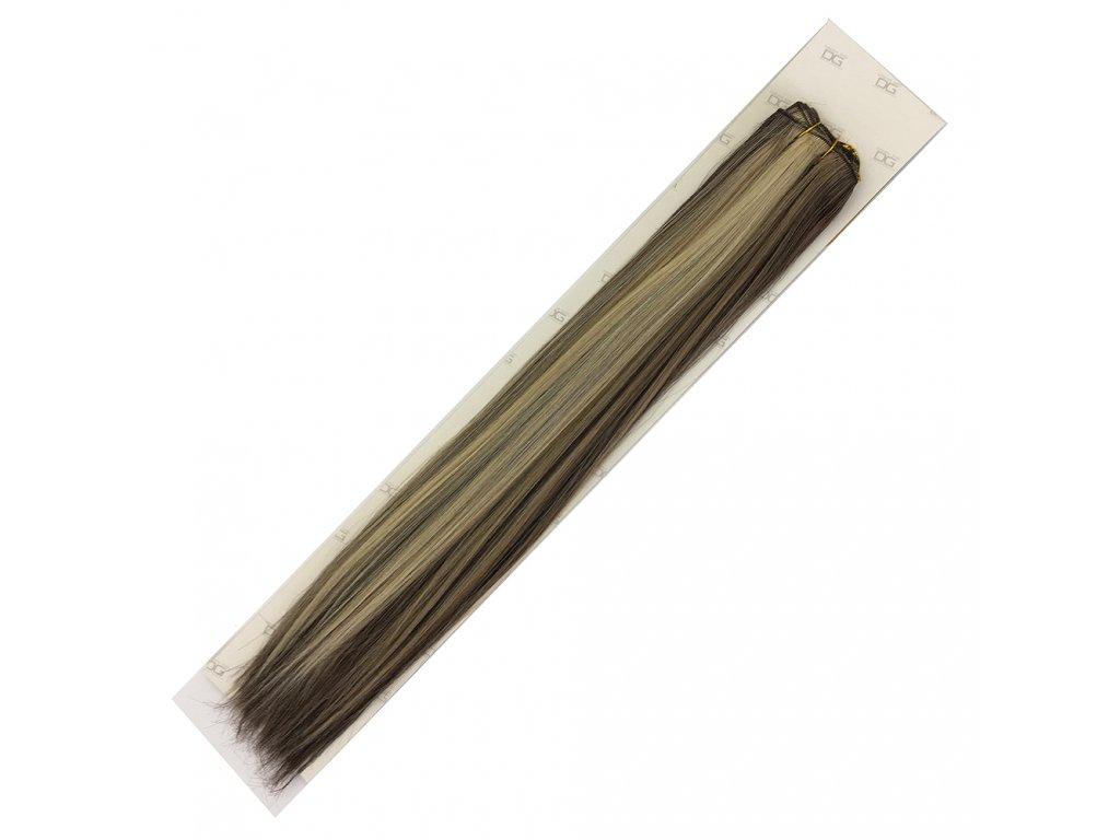 Umělé vlasy 50cm St.hnědá-st.blond-plavá 6/16/613