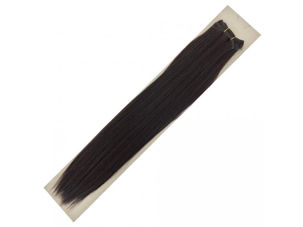 Umělé vlasy 50cm Hnědočerná 3