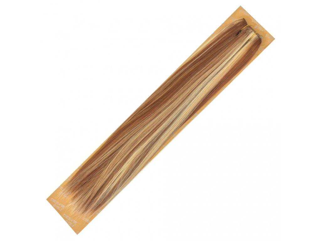 Umělé vlasy 50 cm Slámová-plavá