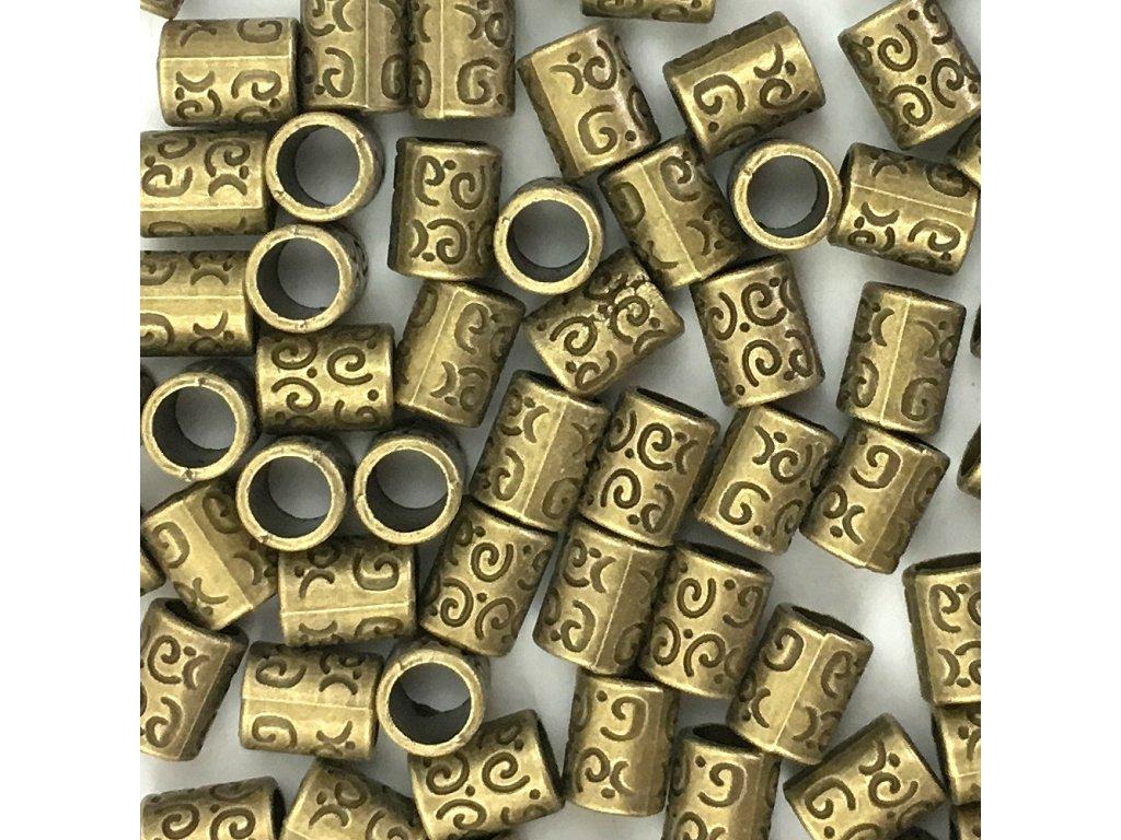 Kovové korálky na copánky nebo dready typE 5ks