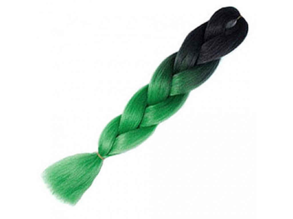 Ombre 100% Jumbo Braid Kanekalon 1B-Emerald