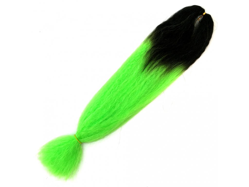 Ombre 100% Jumbo Braid Kanekalon 1B-Light green