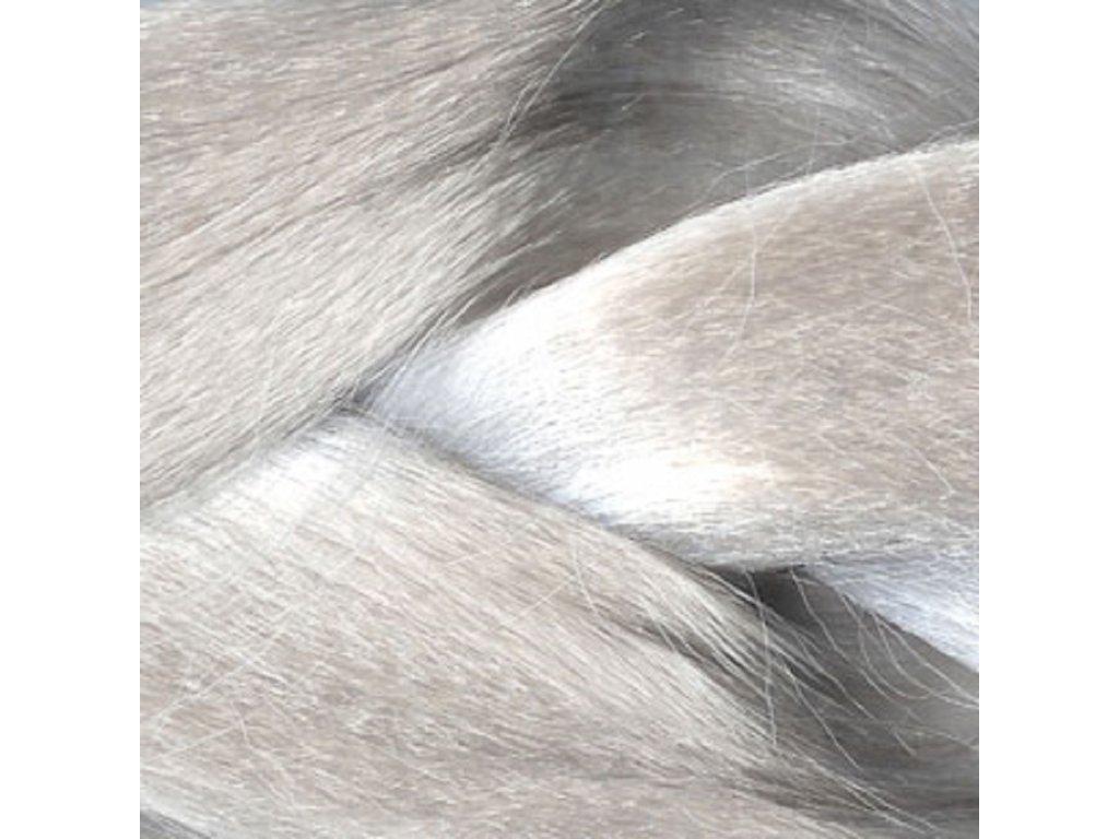 Ultra Jumbo Braid Kanekalon XXL Stříbrná blond White