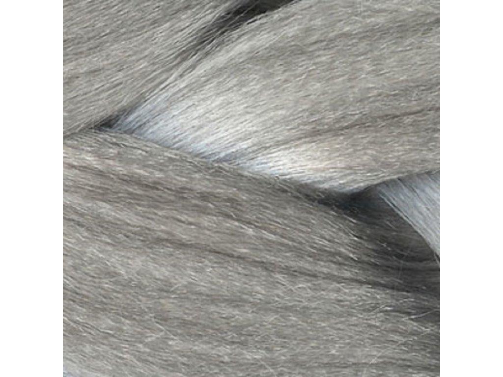 Ultra Jumbo Braid Kanekalon XXL Silver Stříbrná Impression