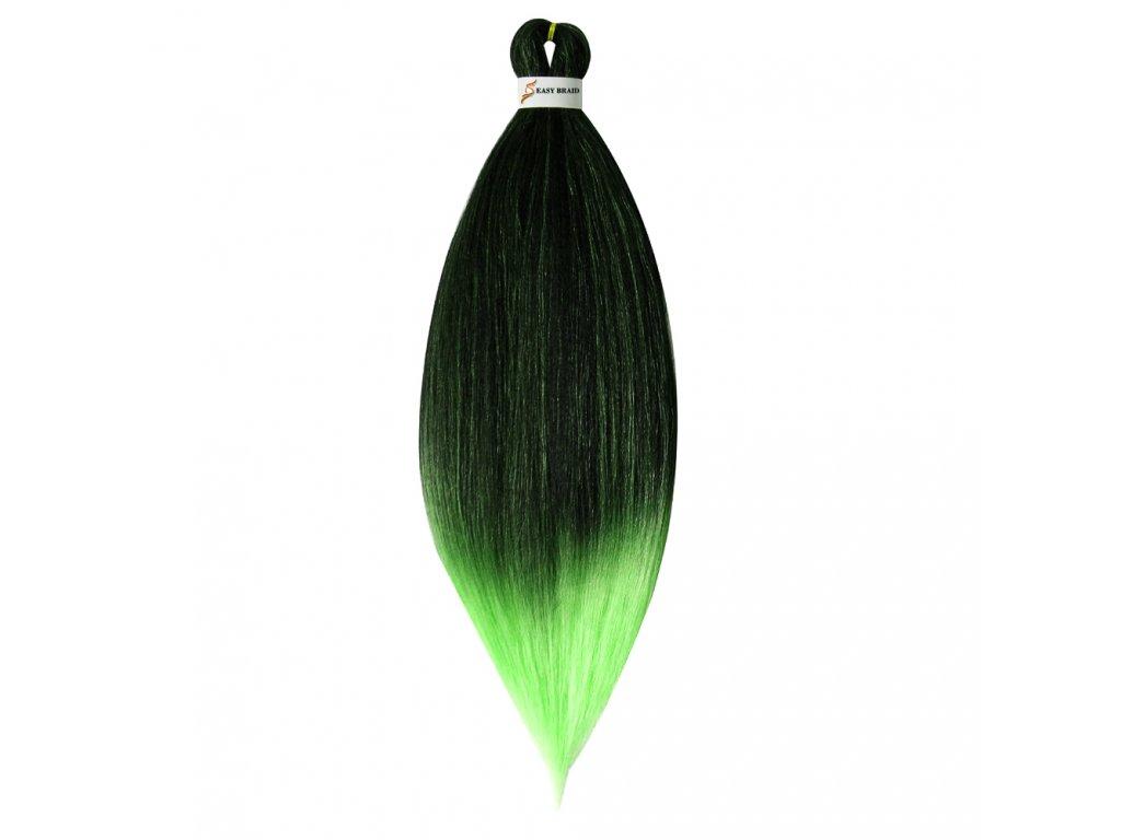 EZ Braid Kanekalon EZT1B-L-Green Černá-Světle zelená