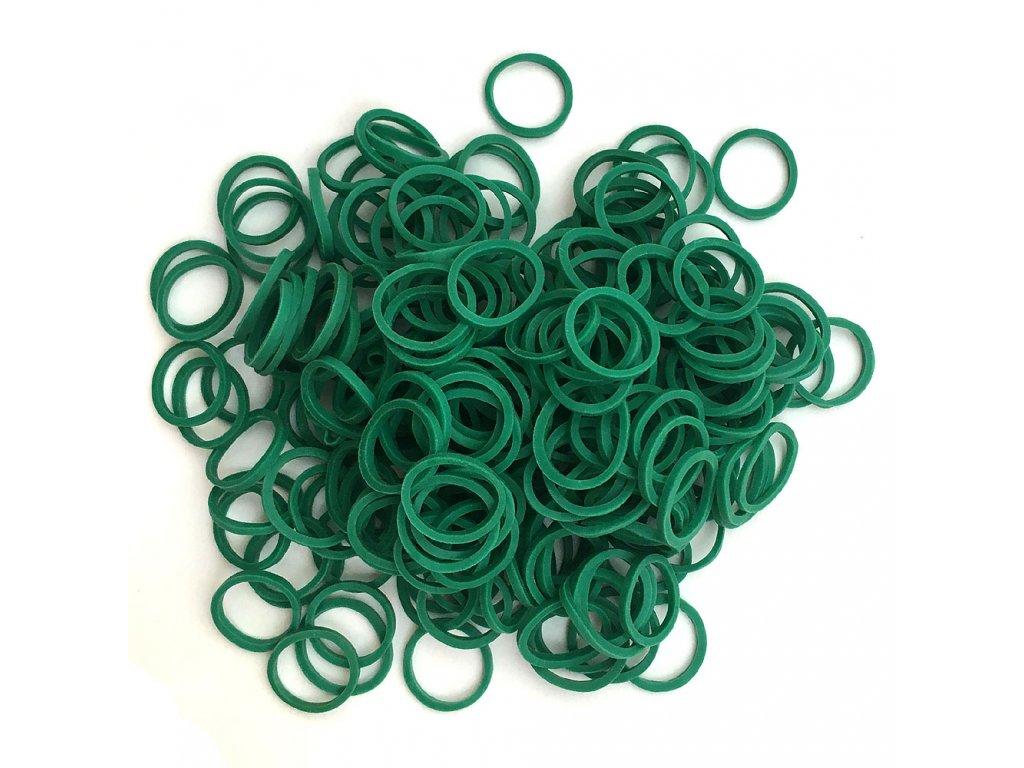 Gumičky na copánky nebo pseudo dready tmavě zelené 50ks
