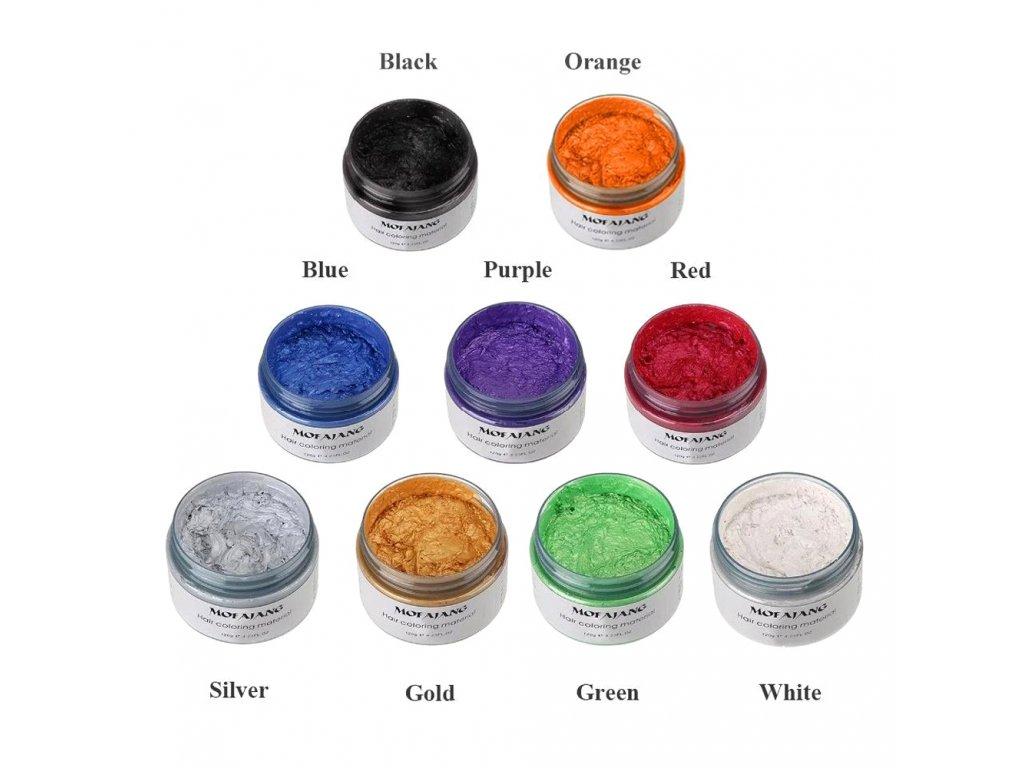 Barvící vosk na vlasy stříbrný 120gr
