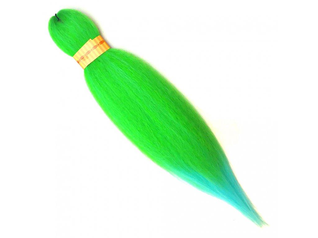 100% Jumbo Braid Kanekalon sestříhaný Zelená/Tyrkysová OM/Green.SkyBlue