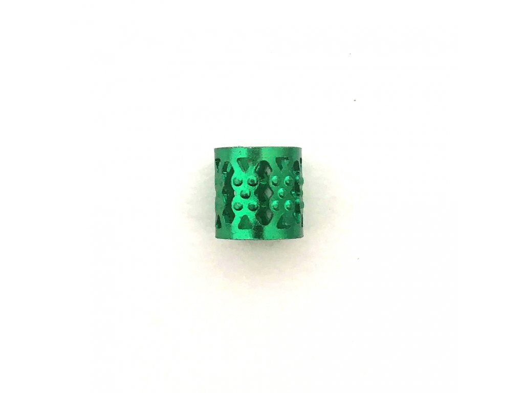 Korálky s upravitelným průměrem zelené otvor 10mm délka 8mm 5ks