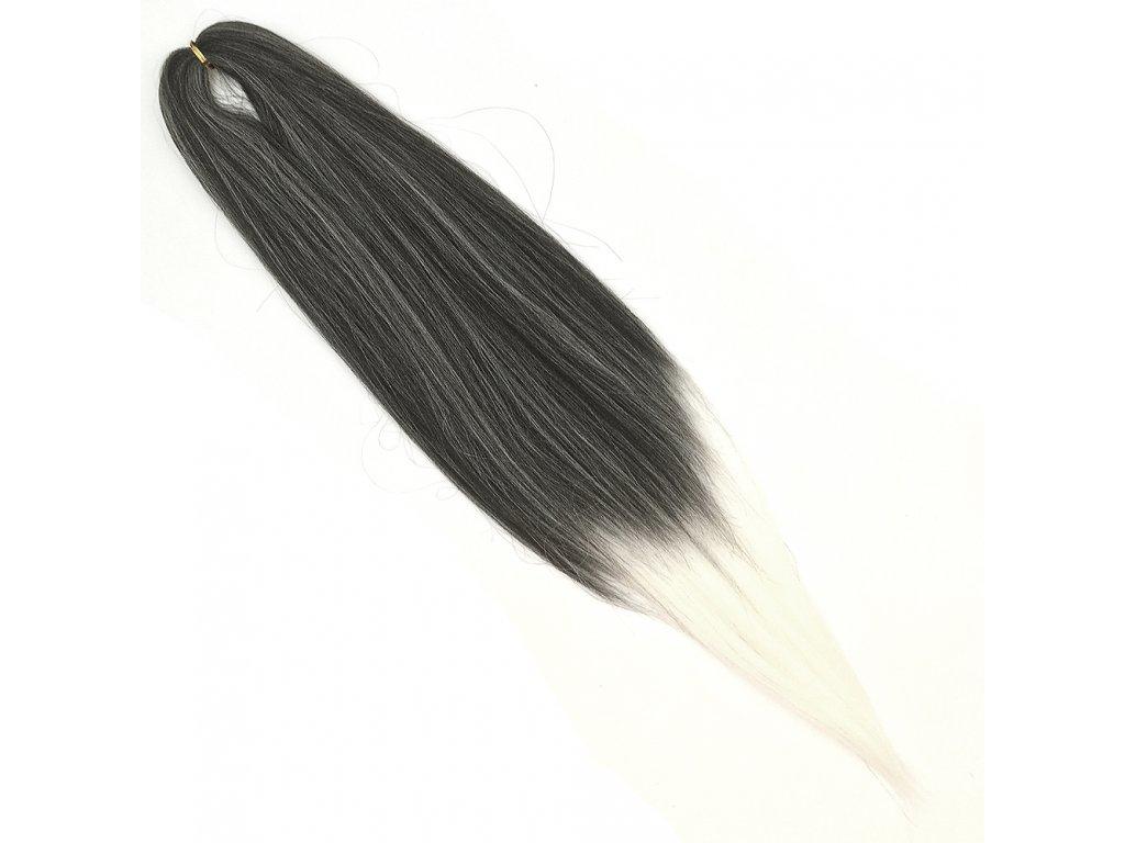 EZ 100% Jumbo braid EZ-FR-14-FR-15 Ombre Černá-bílá