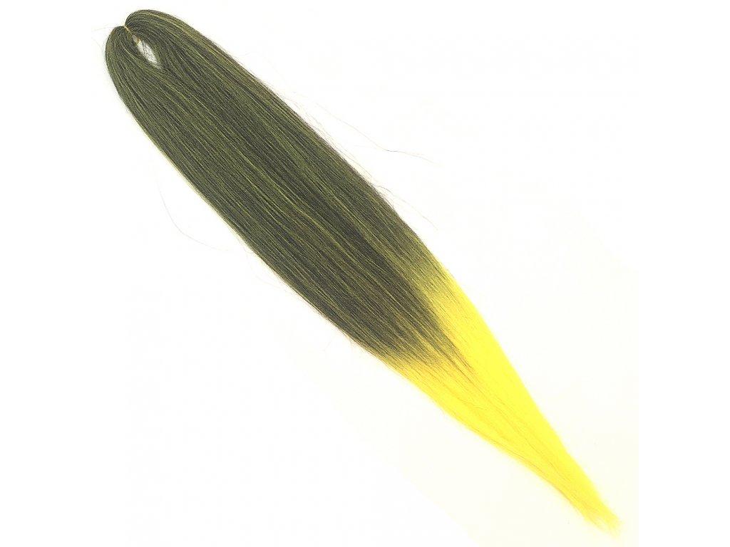 EZ 100% Jumbo braid EZ Ombre Černá-žlutá