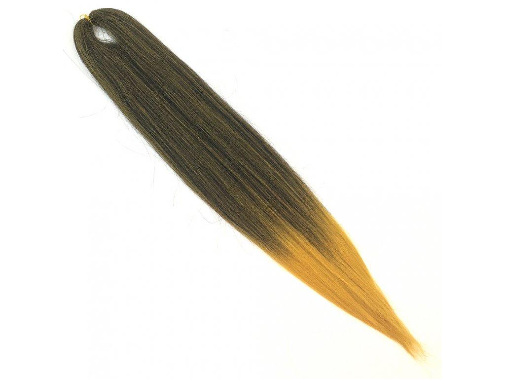 EZ 100% Jumbo braid EZ Ombre Černá-zlatá