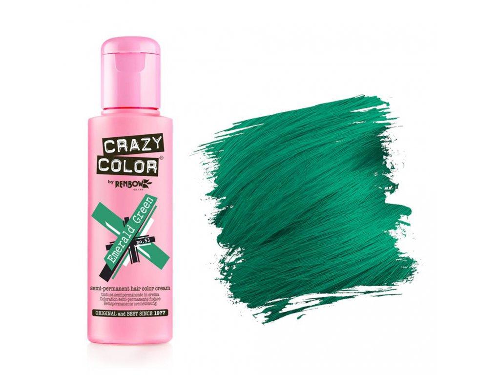 Barva na vlasy Crazy color - Emerald Green