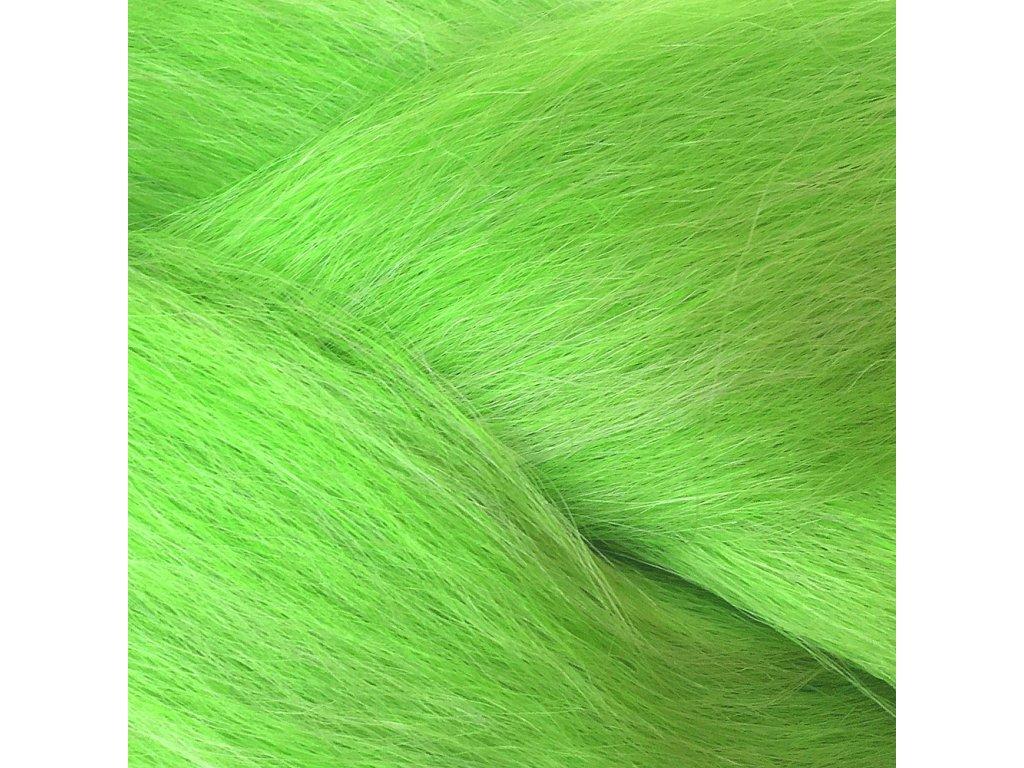 100% Jumbo Braid Kanekalon Kewi Zeleno-stříbrná