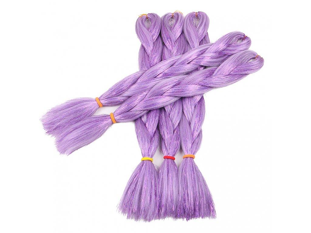 Glitters Jumbo Braid Kanekalon fialový Purple