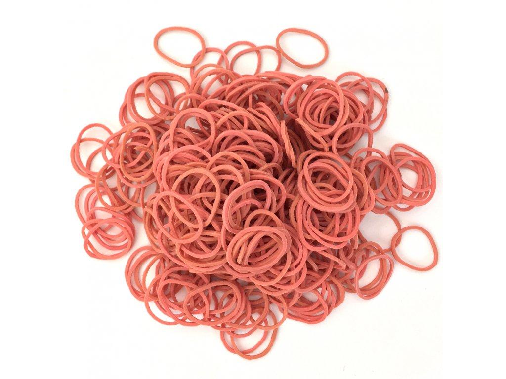 Gumičky na copánky nebo pseudo dready růžové 50ks