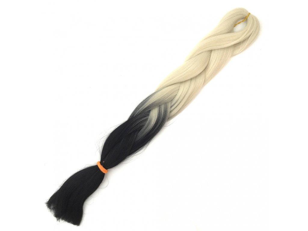 Ombre Jumbo Braid Kanekalon H2-35 Ledová blond-Černá