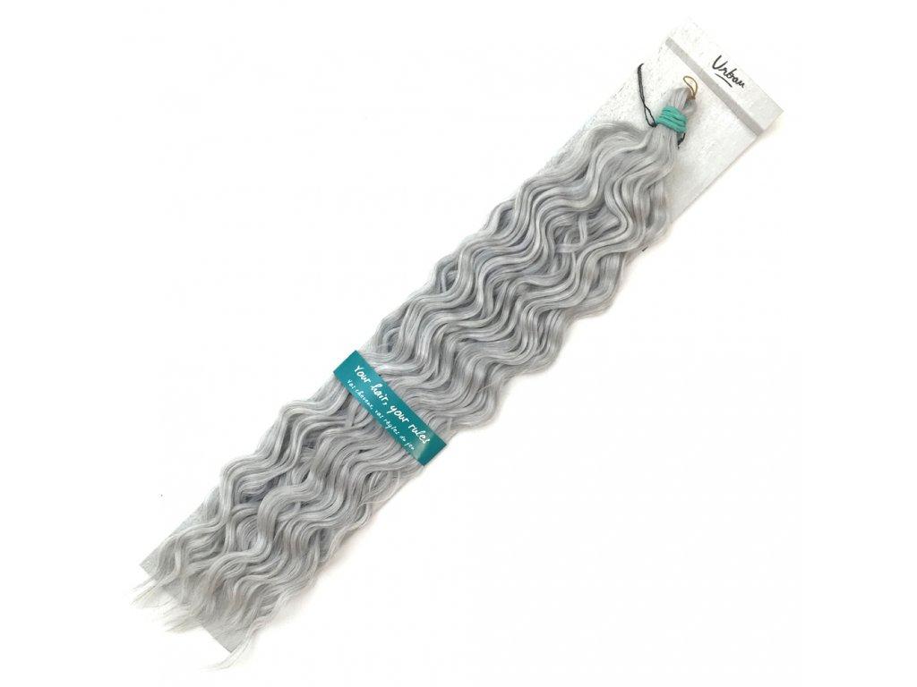 Vlnitý kanekalon Urban Crimp Silver - Stříbrná