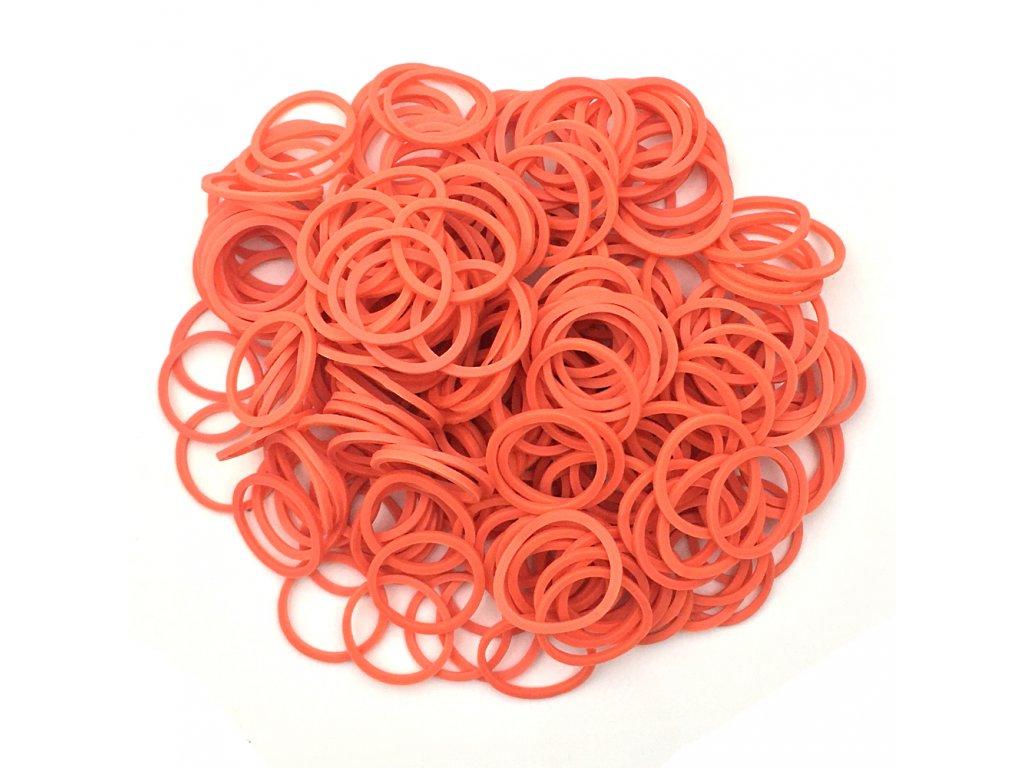Gumičky na copánky nebo pseudo dready oranžové 50ks