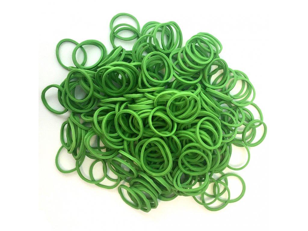 Gumičky na copánky nebo pseudo dready zelené 50ks