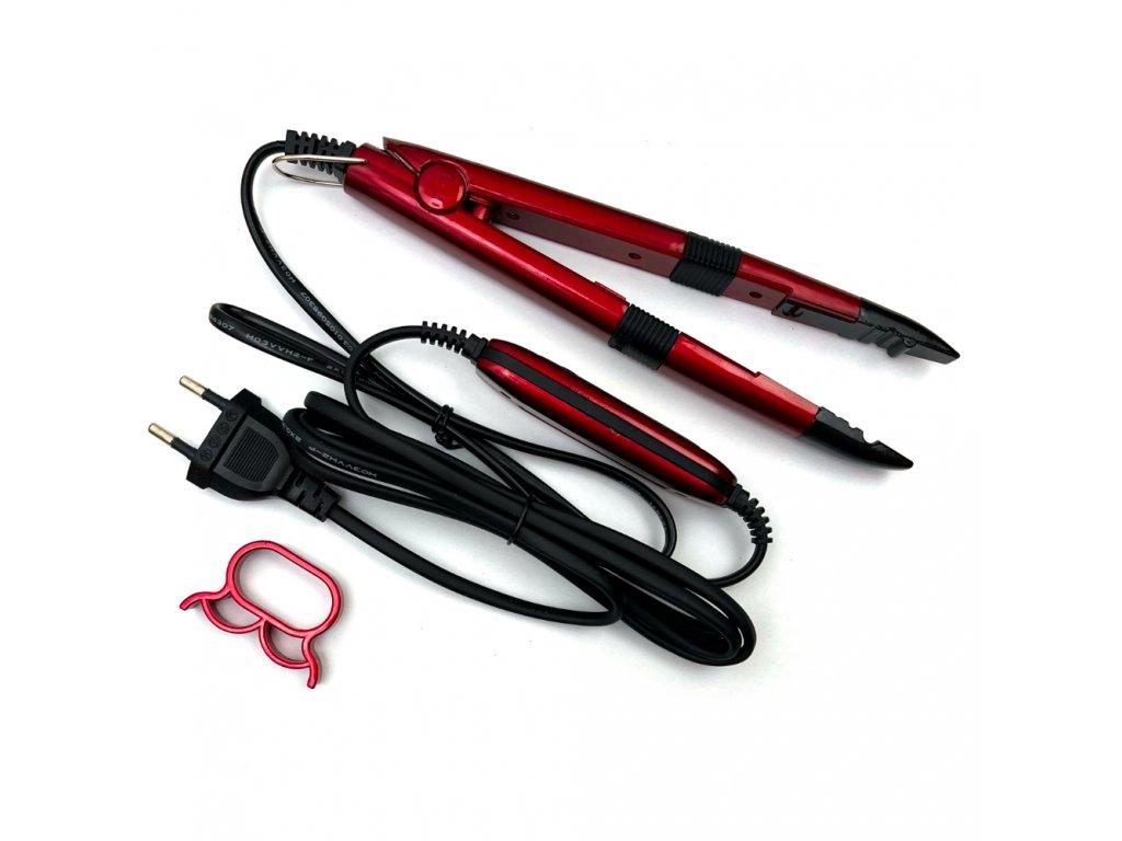 Tavné kleště na keratin 100°-210° červené typ F rovné čelisti
