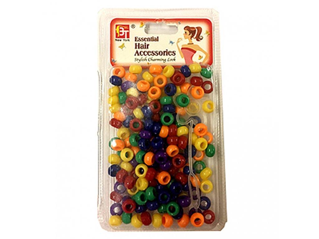 Korálky do účesů barevné malé 120ks