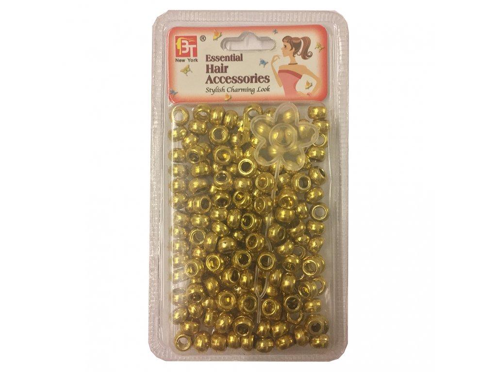 Korálky do účesů zlaté malé 120ks