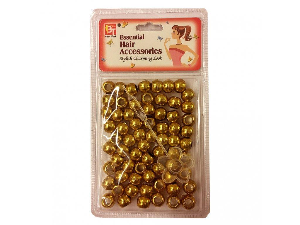 Korálky do účesů zlaté střední 70ks