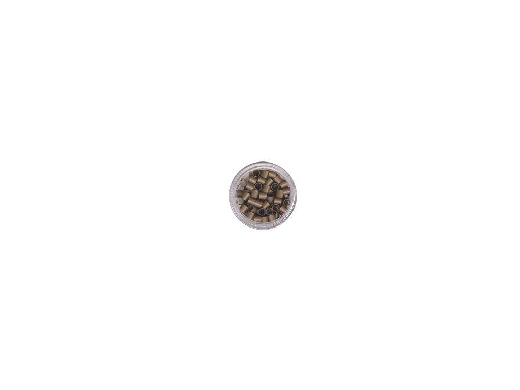 Kroužky Micro Ring 4.0mm, měděné, 100ks, světle hnědé