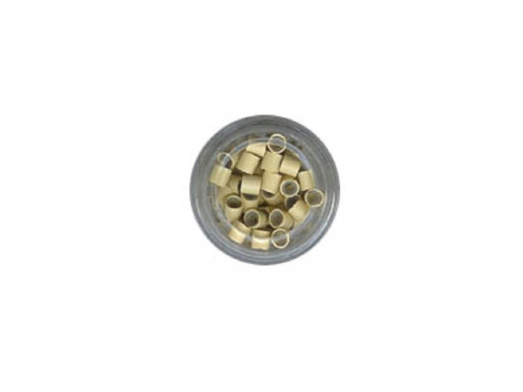 Kroužky Micro Ring 4.0mm, měděné silikon, 100ks, světlá blond