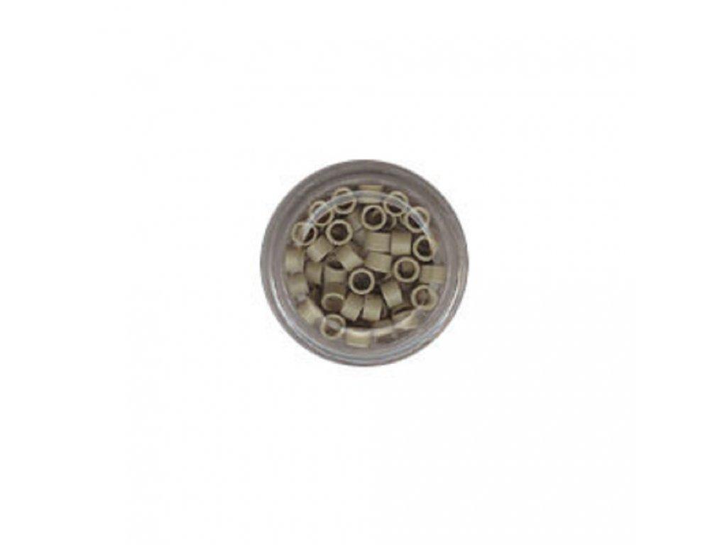 Kroužky Micro Ring 4.0mm, protiskluz, 100ks, platinová blond