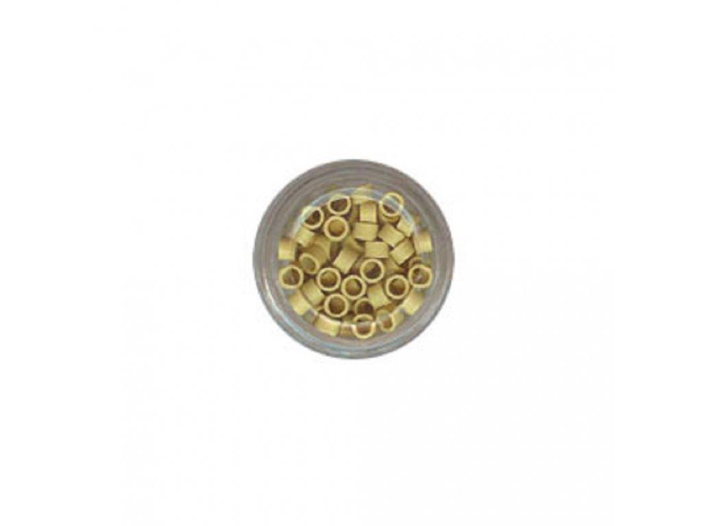 Kroužky Micro Ring 4.0mm, protiskluz, 100ks, plavá blond