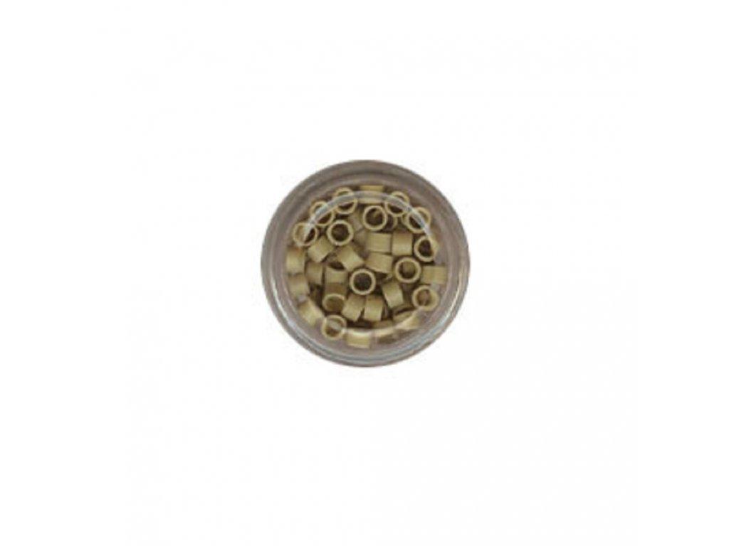 Kroužky Micro Ring 4.0mm, protiskluz, 100ks, střední blond