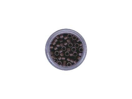 Kroužky Micro Ring 4.5mm, bez protiskluzu, 100ks, středně hnědé