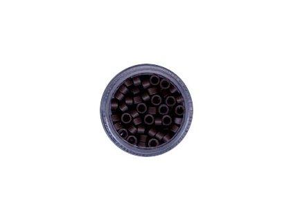 Kroužky Micro Ring 4.5mm bez protiskluzu 100ks, tmavě hnědé