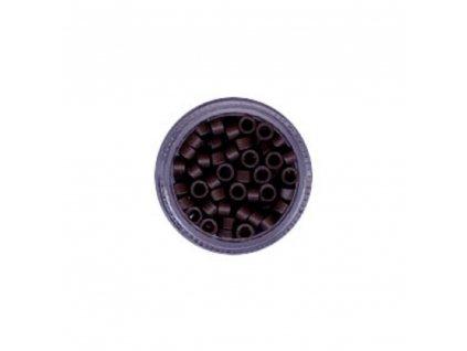 Kroužky Micro Ring 4.5mm protiskluz, 100ks, tmavě hnědé