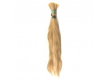 Pravé vlasy blond 1gr 55cm v copu