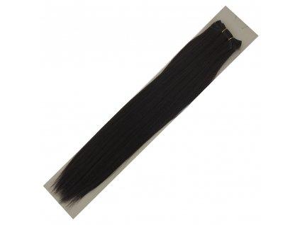Umělé vlasy 50cm Černohnědé
