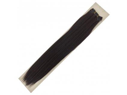 Umělé vlasy 50cm Hnědočerná