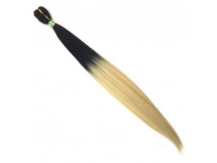 Rovný Kanekalon na třásni Ombre Černá-Blond