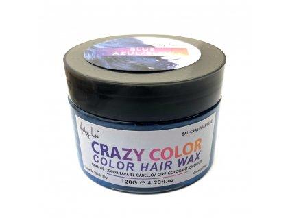 Barvící vosk na vlasy modrý 120gr