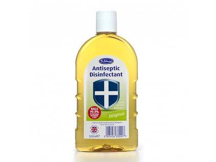 Dr Johnson's Antiseptic Disinfectant 500ml kills 99.9% of bacteria