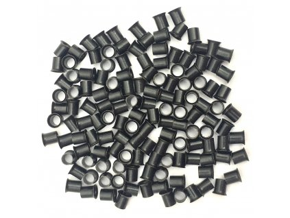 Měděné krátké s cylindrem 4mm, 100ks, černé 1