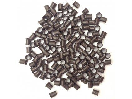 Měděné krátké s cylindrem 4mm, 100ks, tmavě hnědé 3