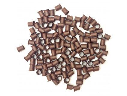 Měděné krátké s cylindrem 4mm, 100ks, středně hnědé 5