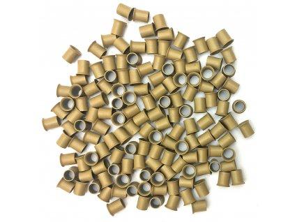 Měděné krátké s cylindrem 4mm, 100ks, tmavá blond 8