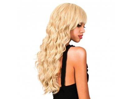 Paruka s umělými vlasy Melisa 60cm Plavá blond