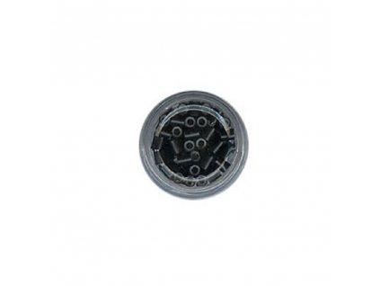 Kroužky Micro Ring 4.0mm, měděné silikon, 100ks, černé