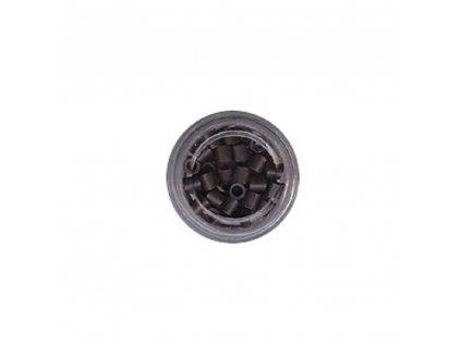 Kroužky Micro Ring 4.0mm, měděné silikon, 100ks, tmavě hnědé